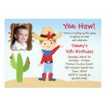 Invitación occidental de la fiesta de cumpleaños d