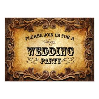 Invitación occidental del boda del vaquero invitación 12,7 x 17,8 cm