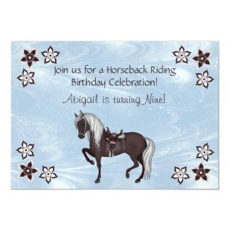 Invitación occidental del cumpleaños de la invitación 12,7 x 17,8 cm