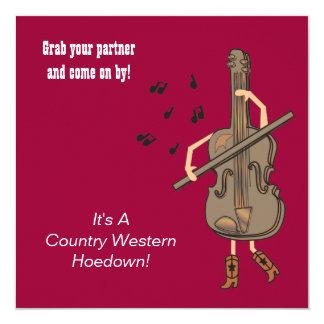 Invitación occidental del cumpleaños del país