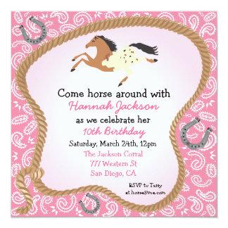 Invitación occidental del fiesta del caballo de la