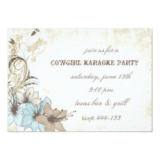 Invitación occidental del fiesta del estilo invitación 12,7 x 17,8 cm