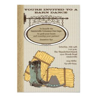 Invitación occidental del granero