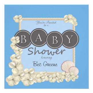 Invitación oceánica de la ducha del bebé