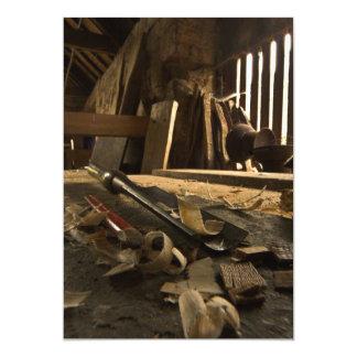 Invitación ocupada del taller de los carpinteros