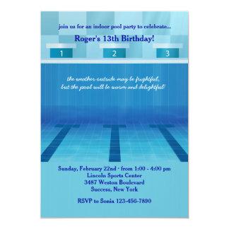 Invitación olímpica de la fiesta en la piscina