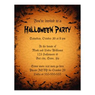 Invitación oscura del fiesta de Halloween del
