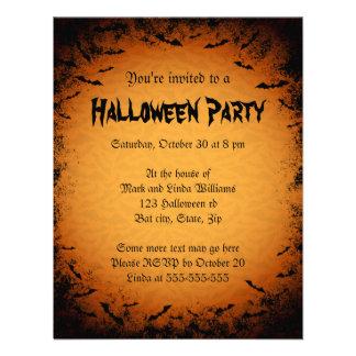 Invitación oscura del fiesta de Halloween del marc