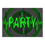 """Invitación oscura verde sana del """"FIESTA"""""""