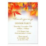 Invitación otoñal del fiesta de la acción de