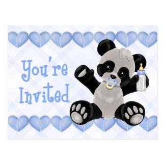 Invitación pacificada de la fiesta de bienvenida a postales