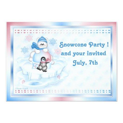 Invitación - Pals polares de Snocone