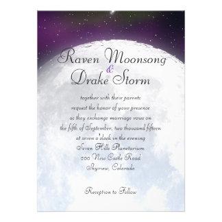 Invitación para el boda temático del espacio