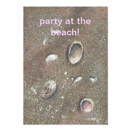 invitación para el fiesta de la playa
