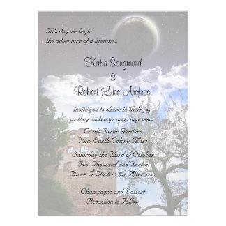 Invitación para el tema del boda de Terraformer