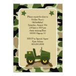 """Invitacion para fiesta militar Soldado camuflage Invitación 5"""" X 7"""""""