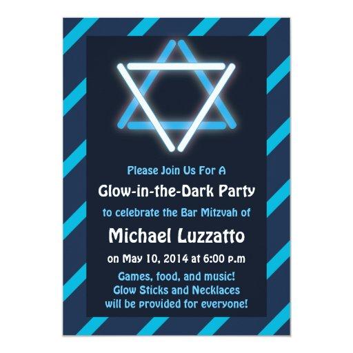 Invitación para la barra Resplandor-en--Oscura