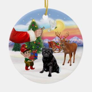 Invitación para un barro amasado negro adornos de navidad