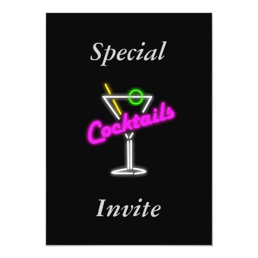 Invitación para un cóctel invitación 12,7 x 17,8 cm