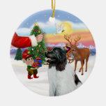 Invitación para un Landseer Terranova Ornamento Para Arbol De Navidad