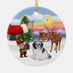 Invitación para un Shih Tzu (a) Ornamento De Navidad