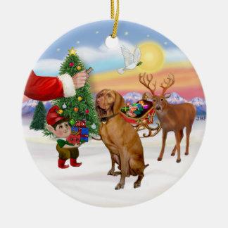 Invitación para un Vizsla Ornamentos De Reyes Magos