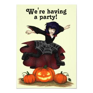 Invitación parda del fiesta de Halloween de la
