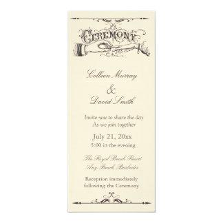 Invitación pasada de moda de la ceremonia del