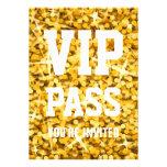 """Invitación PASO del VIP"""" del """"oro"""" del Glitz del """""""