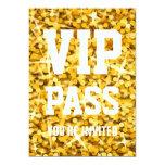 """Invitación PASO del VIP"""" del """"oro"""" del Glitz del """" Invitación 12,7 X 17,8 Cm"""