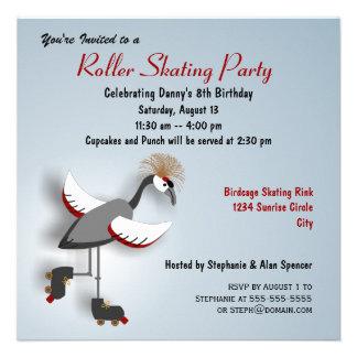 Invitación patinadora coronada del fiesta de la gr