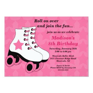 Invitación patinadora de la fiesta de cumpleaños