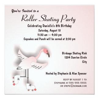 Invitación patinadora del fiesta del flamenco