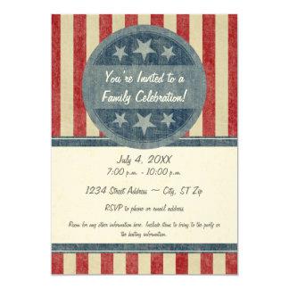 Invitación patriótica invitación 12,7 x 17,8 cm