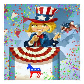 Invitación patriótica de Demócrata - srf
