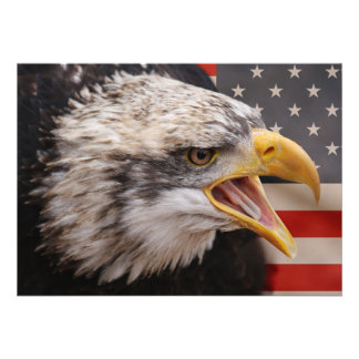 Invitación patriótica de Eagle