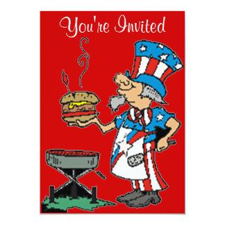 invitación patriótica del Bbq
