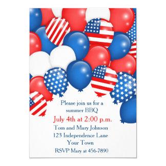 Invitación patriótica del día de fiesta de los