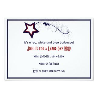 Invitación patriótica del fiesta del día de Laber