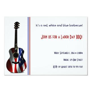 Invitación patriótica del fiesta del Día del