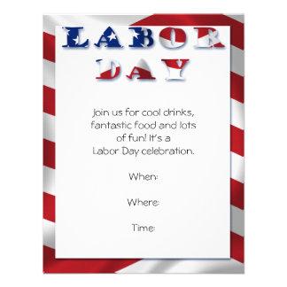 Invitación patriótica del fiesta del Día del Traba