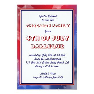Invitación patriótica del personalizado de la