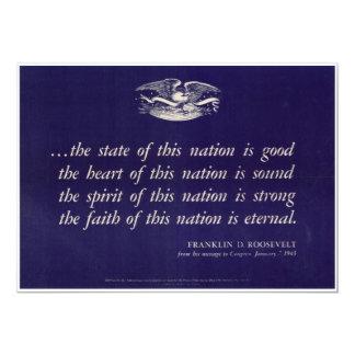 Invitación patriótica del poster de WWII