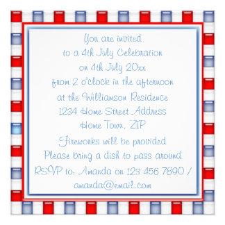 Invitación patriótica del rojo de la diversión bl