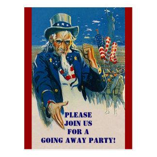 Invitación patriótica del tío Sam de la postal del