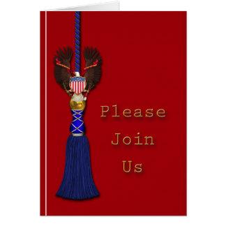 Invitación patriótica o militar tarjeton