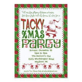 Invitación pegajosa de la fiesta de Navidad Invitación 12,7 X 17,8 Cm