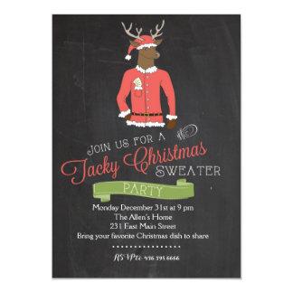 Invitación pegajosa de la fiesta de Navidad del Invitación 12,7 X 17,8 Cm