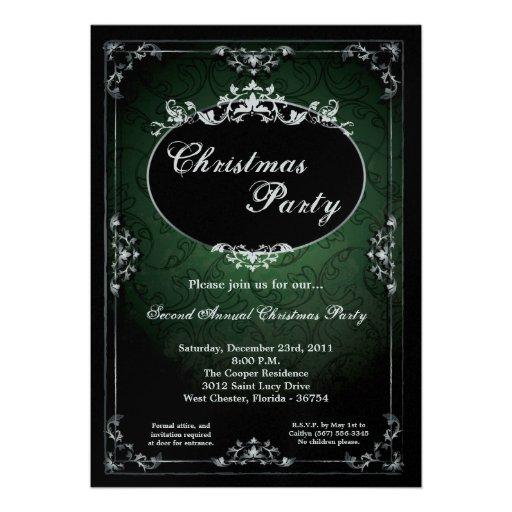 invitación pendiente de la fiesta de Navidad de la