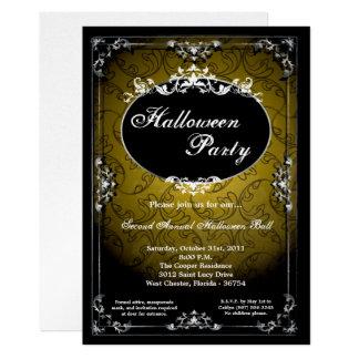 invitación pendiente del fiesta de Halloween de la
